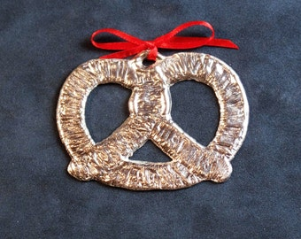 Pewter Pretzel Ornament
