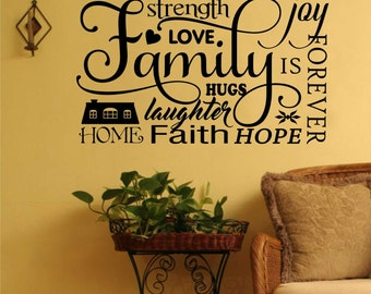 Family Collage Decal, Vinyl Wall Lettering, Vinyl Wall Decals, Vinyl Decals, Vinyl Lettering, Wall Decals, Home Decal, Family Decal
