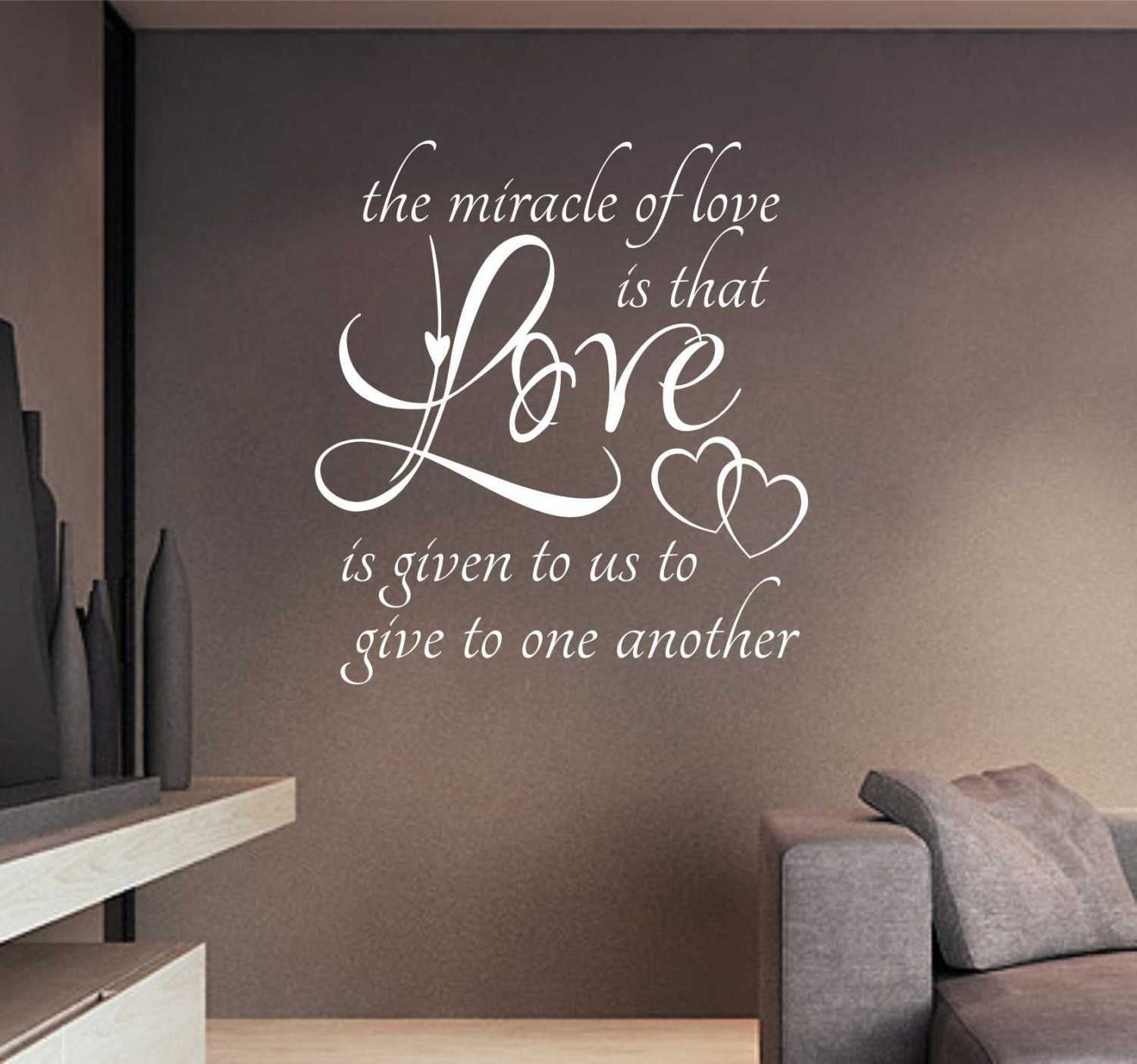 Miracle Of Love Quote Vinyl Wall Lettering Vinyl Wall
