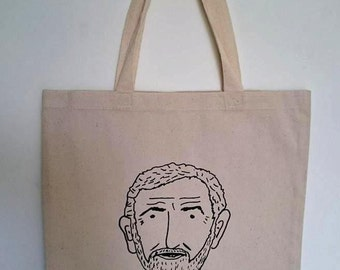 Canvas tote bag//Jeremy Corbyn//re-usable//screen printed//Beat the bag tax//eco friendly