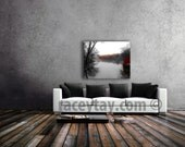 Central Park Canvas Art / Large Wall Art Canvas / 16x20 Canvas / White Gray Brown Canvas Decor