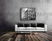 Black White New York Canvas, SoHo, Large Wall Art Canvas, Cast Iron Historic District, Soho Building, NYC Art