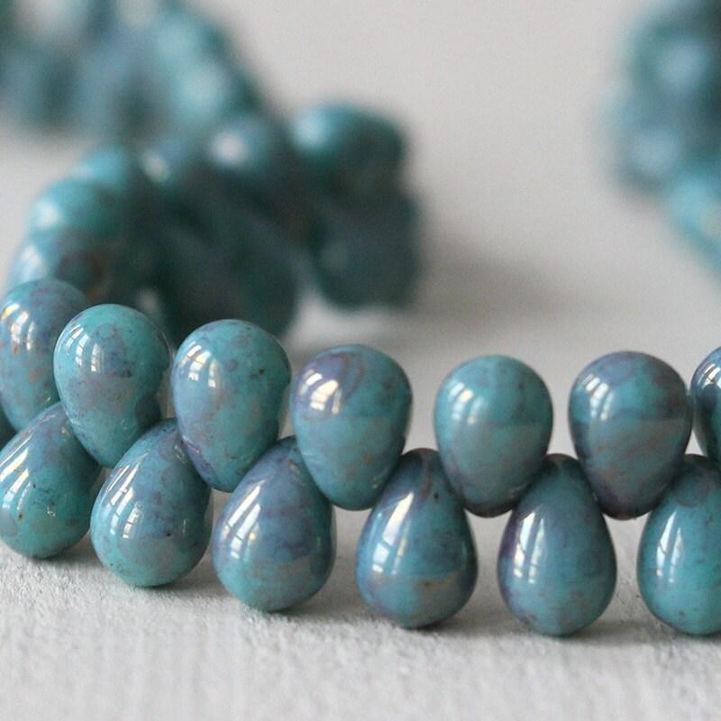 Teardrop Beads: 6x4mm Teardrop Beads Jewelry Making Supplies Tear Drop
