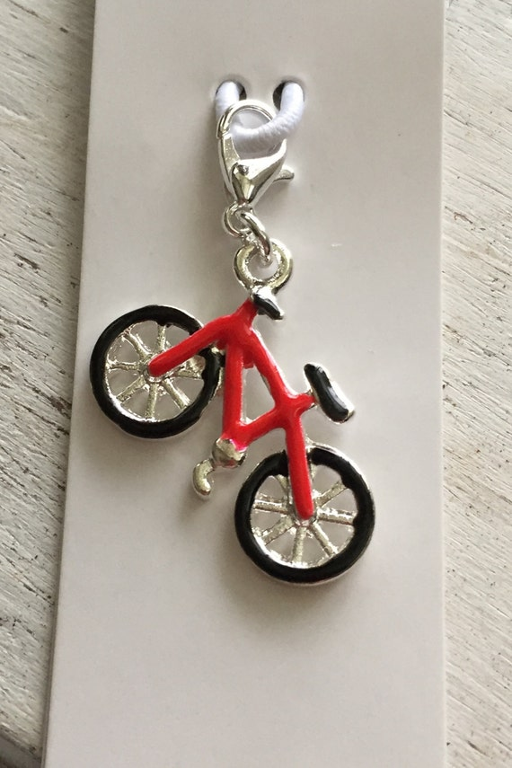 Bicycle Charm with Lobster Claw Clasp