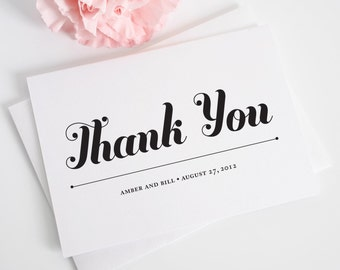 Whimsy and Script Thank You Cards - Playful, Script, Bold, Preppy Thank You Card