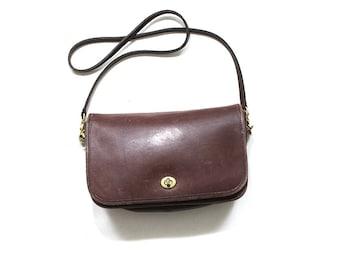 Vintage Coach Bag / Coach City Bag / Brown Leather Coach Purse / Coach Messenger Bag