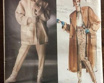 Vogue 1637 Christian Dior Coat & Pant Paris Original Vintage Sewing Pattern Bust 32