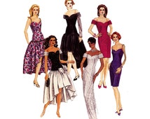 90s Fitted Sheath or High Low Hem Prom Gown Pattern McCall's 5875 Sewing Pattern Size 14 16 Bust 36 38 inches