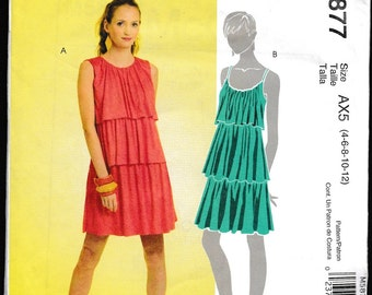 McCall's 5877 Misses' Pull-Over Tiered Dress