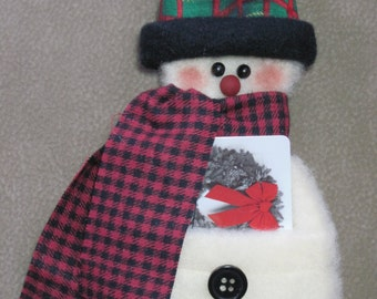 Snowman Gift Card Holder/Ornament with Top Hat