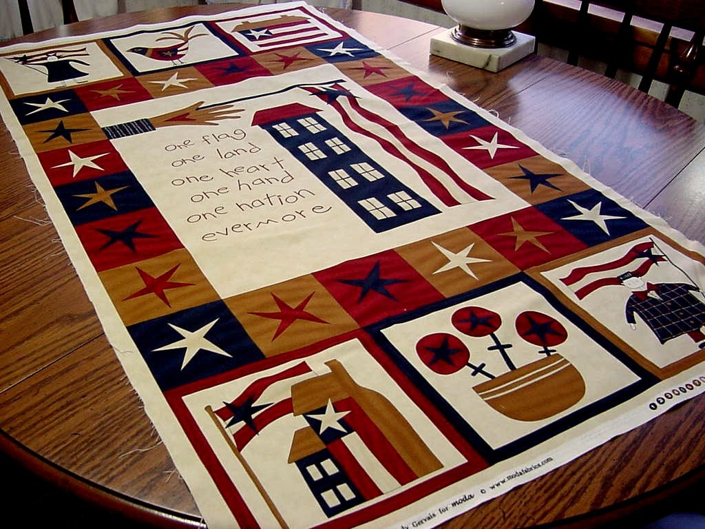 Patriotic Glory Be Sandy Gervais Moda Fabric