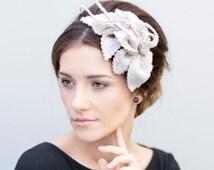 Leaf Fascinator, Fashion Millinery, Organic Woodland Wedding Head Piece  - Monika