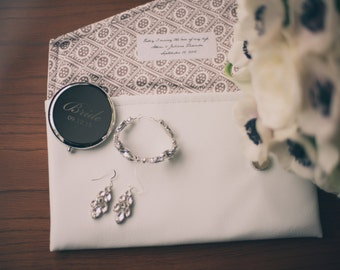 Wedding Gift Card Inscriptions : Custom Inscription Label Personalized Bridesmaids Brides