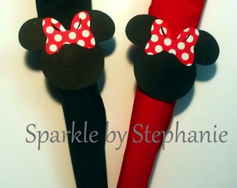 Minnie Mouse Napkin Rings - Red Polka Dot Bows - Set of 12+ - You can choose the bow