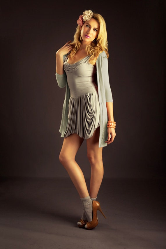 The Lady Like Cardigan in Gray- Size Small