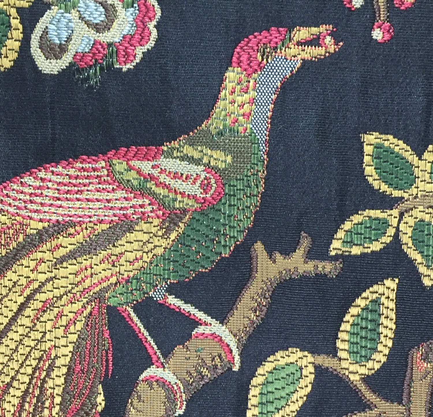 Exotic bird fabric embroidery pattern samples