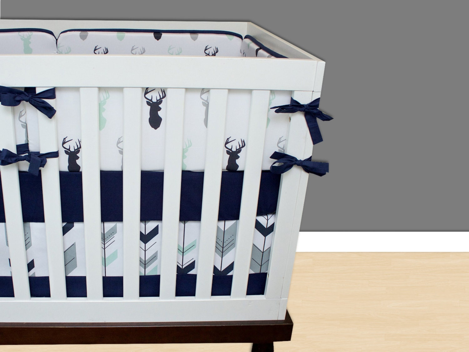 Deer Crib Bedding Buck Stag Mint
