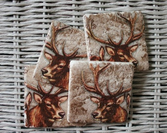 Stag Deer Stone Coaster Set of 4 Tea Coffee Beer Coasters
