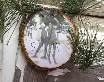 1920s Girls Day Out - Christmas Ornament - Skiing and Snowshoeing - Vintage Snowshoe - Vintage Ski - Ephemera - Gift Tag - Ski Gift