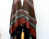 Autumn fall poncho Winter wrap Mexican poncho Tribal Women clothing Kilim poncho Winter shawl Boho chic wrap Women coat Blanket shawl