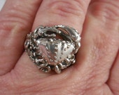 Dungeness Crab Sterling Silver Ring
