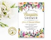 Couples Bridal  Shower Invitation, Wedding Shower, Couples Shower, Printable Bridal Shower | Printable | Faux Glitter,  Invitation 2518