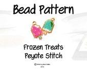 Beading PATTERNS - Frozen Treat, Ice Cream Charm / Food Jewelry, Petite Seed Bead Bijoux