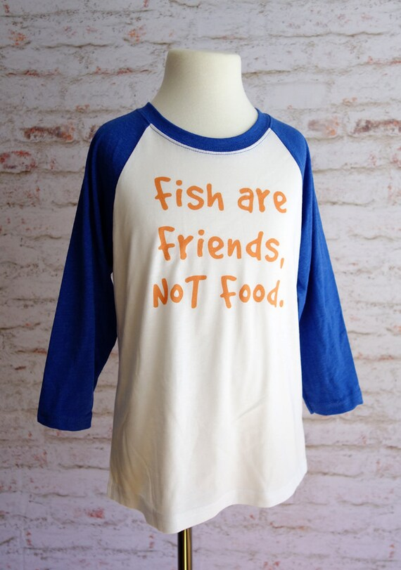 Finding nemo shirt fish are friends not food disney shirt for Fish are friends not food