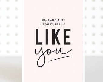 Like You Valentines Day Anniversary  Card