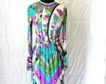 vintage Pucci dress - 1960s Emilio Pucci mod-print silk jersey dress
