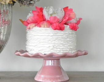 Cake Stand Wedding Pink Cake Stand Cupcake Stand Baby Girl Pink Cake Topper Wedding Event Decor Rustic Vintage Inspired Wedding Decoration