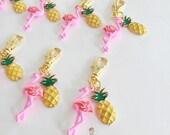 flamingo + pineapple zipper charm [a marine parents exclusive!]