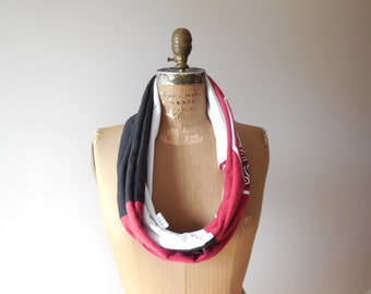 South Carolina T-Shirt Infinity Scarf University of South Carolina Womens Tee Scarf Cotton Scarf Handmade Scarf College Scarf ohzie