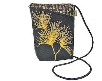 Cotton Cross Body Bag - Black - Cross Body Bag - Gold Pine