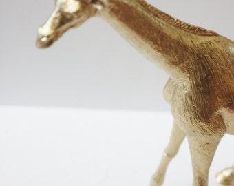 GOLD GIRAFFE Ring Holder Animal Figurine Whimsical Vintage Golden Decor Chic Unique Modern Jewelry Wedding Holder Storage Organization