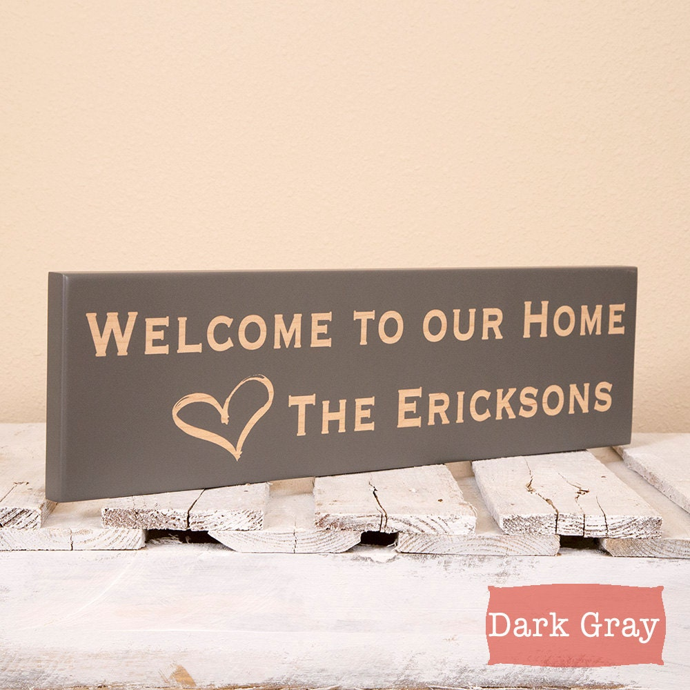 Personalized welcome home sign new home housewarming gift new for New home sign