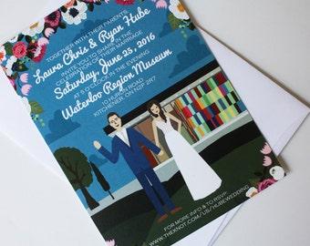 Invite Card : Custom Illustrated Wedding Invitations, Design Fee
