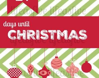 Christmas Countdown//Digital Download//Printable