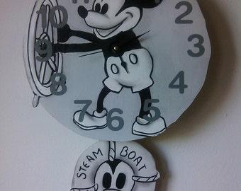 Steamboat Willie Children's Pendulum Wall clock