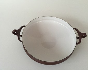 Dansk Brown Enameled Paella Pan/Mid Century Brown Enamelware/Danish Modern/ Kobenstyle Brown Paella Pan c.1970 By Gatormom13
