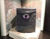 Tower Deck Box- Black with Purple  Eye