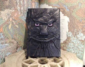 Mythical Beast Book (Dark Blue  leather with Purple eyes)