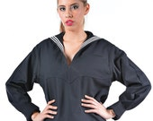 1980's AUTHENTIC Military Style VINTAGE United States Navy Women's Shirt - Jumper - Middy by Top Rank Vintage ( UNISSUED )