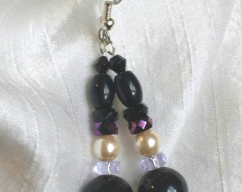 Earrings -Czech Glass Dangle Drop