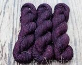 Girly Fun Sock - Raspberry Chocolate - Colour Adventures (fibers: superwash merino, nylon, stellina)