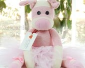 Kid's Toys, Ballerina Pig Sock Monkey Doll