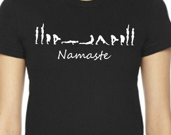 Yoga Sun Salutation Namaste Shirts, Namaste Shirt, Yoga Top, Yoga Shirt