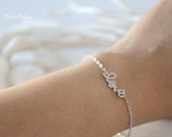 Love Bracelet in Silver/ Gold. Love. Valentine's Gift. Anniversary. Sweet. Everyday Wear. Gift For Her (PBL-14)