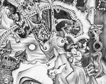 Art Print - Voodoorebuaz - Black & White