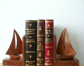 Gift Idea Handmade Mahogany Book End Gift for Him  Gift for Her